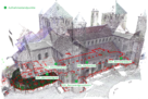Point cloud church St. Michaelis Hildesheim, Spatial Humanities